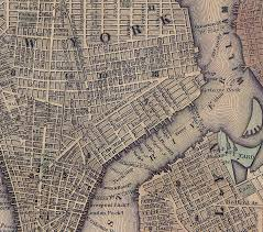 Downtown Manhattan Map Vintage Nyc Map New York City Historical Blog