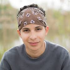 hairband men mens headband brown bandana wide headband bandanna specifically