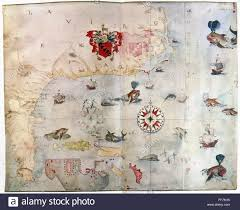 Map Of Watercolor Florida by North America Map C1585 Nmap Of Eastern North America From