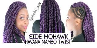 crochet hair mohawk pattern how to do side mohawk crochet braids w havana mambo twist