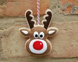 ornaments felt rudolph reindeer ornament by mymagicfelt