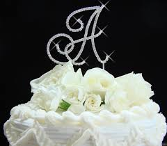 wedding cake top renaissance large initial cake top jewelry wedding cake topppers