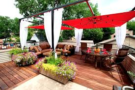 Rooftop Deck Design by Curtain Call The Guide To Pergola Curtains