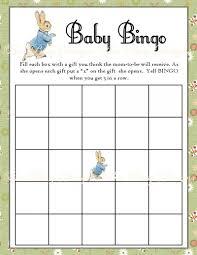 Baby Shower Printable Bingo Printable Peter Rabbit Baby Shower Bingo Game Instant Download