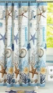 Seahorse Shower Curtain Beach Theme Shower Curtains Foter