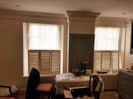 period property sash windows transformed with plantation shutters