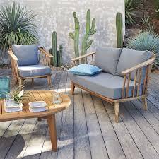canapé teck jardin canapé de jardin acacia fsc julma teck la redoute interieur
