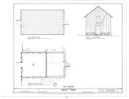 file hay barn east elevation hay loft plan and first floor plan