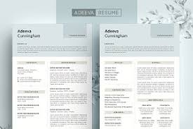 simple resume template modern resume template elliot resume templates creative market