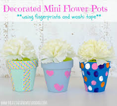 How To Decorate A Pot At Home Decorated Mini Flower Pots Meatloaf And Melodrama
