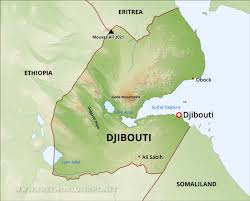 Djibouti Map Djibouti Physical Map