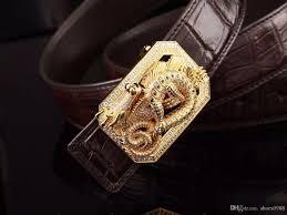 high end leather belt handmade diamond natural diamond buckle use