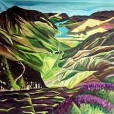 walt curlee autumn wheat harvest landscapes art painting