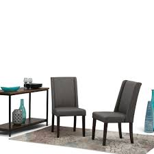 simpli home sotheby slate grey dining chair set of 2 axcdchr 002