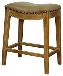 elmo bonded leather counter stool with weathered legs vintage