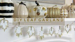 diy gold dipped leaf garland quite contemporary