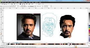 tutorial wpap photoshop 7 wpap tony stark with coreldraw x6 part 1 hd youtube