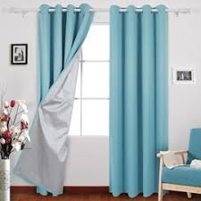 Light Silver Curtains Deconovo Rod Pocket Curtain Thermal Insulated Blackout Curtains