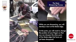 sharpening double bevel edge knife youtube