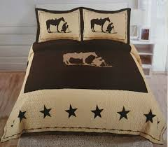 Cowboy Bed Sets Cowboy Western 3 Bedding Set Sparkle Surplus