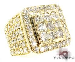 mens gold diamond rings mens diamond jewelry traxnyc
