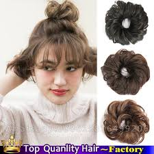 bun scrunchie synthetic elastic chignon scrunchie buns chignon hairpiece