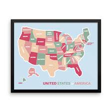 Map The Usa by United States Craft Beer Wall Map Art Poster Of Breweries Poster