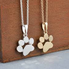 dog necklace pendant images Cute paw print pendant necklace for the animal lover in you jpg