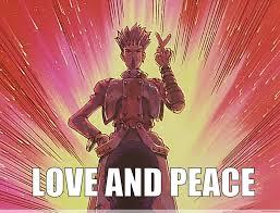 Peace Meme - love and peace anime meme com