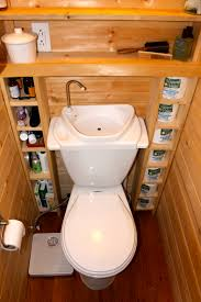house to home bathroom ideas the tiniest room in our tiny house has room for a porcelain toilet