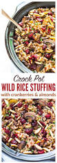 simple dressing recipe thanksgiving crock pot stuffing with wild rice cranberries and almonds
