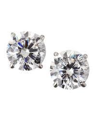 cubic zirconia stud earrings cubic zirconia earrings neiman