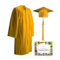 kindergarten cap and gown kindergarten pre k day care caps gowns graduationsource
