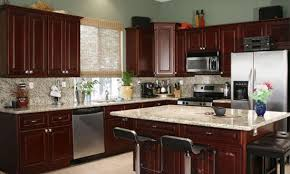 dark cherry kitchen cabinets