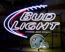 bud light lighted sign bud light raiders neon sign collectibles in cypress ca