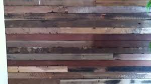 Wood Wall Panels by Recycled Wood Feature Wall System Youtube