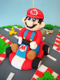 mario cake topper butter hearts sugar mario kart birthday cake