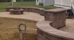 Stone Patio With Fire Pit Stone Walkway Patio Fire Pit Masonry Contractor Stonescapes
