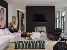 living room accent wall ideas 20 knockout black accent wall in the living room home design lover