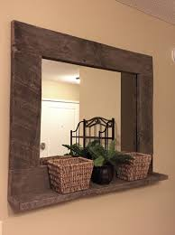 Mirror With Shelves by Top 25 Best Pallet Mirror Ideas On Pinterest Pallet Mirror