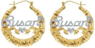 Hoop Earrings With Name Fingerhut 18k Gold Plated Silver 3d Name Plate Necklace