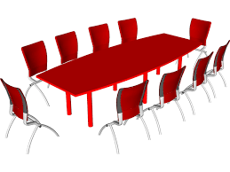 Knoll Propeller Conference Table Knoll Conference Table And Chairs 3d Model 3d Cad Browser