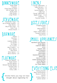 wedding registry list wedding registry ideas affordable navokal