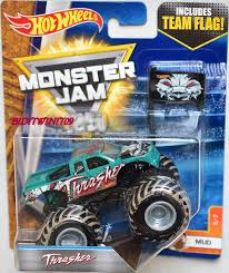 wheels 2017 monster jam includes team flag thrasher mud