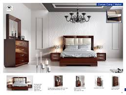 Modern Bedroom Furniture Sets Carmen Walnut Modern Bedrooms Bedroom Furniture