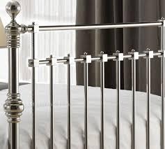 edward chrome metal bed frame by time living 6ft super kingsize