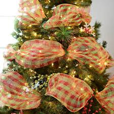 christmas mesh ribbon how to 5 ways to use ribbon on your christmas tree my