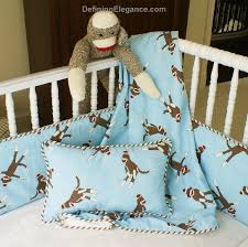 Sock Monkey Fabric Maddie Boo Sock Monkey Baby Bedding