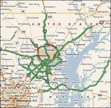 baltimore routes map highway evacuations in selected metropolitan areas assessment of