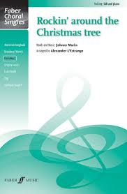rockin u0027 around the christmas tree sab choral octavo